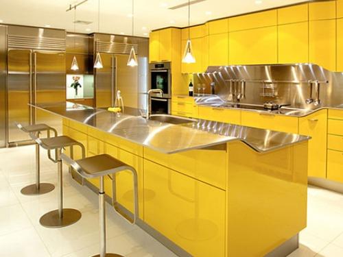 کابینت با رنگ زرد