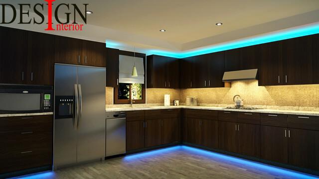 نکات قابل توجه در نورپردازی آشپزخانه طراحی داخلی