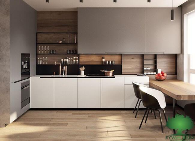 قفسه های باز و تاثیر آن ها بر دکوراسیون کابینت آشپزخانه