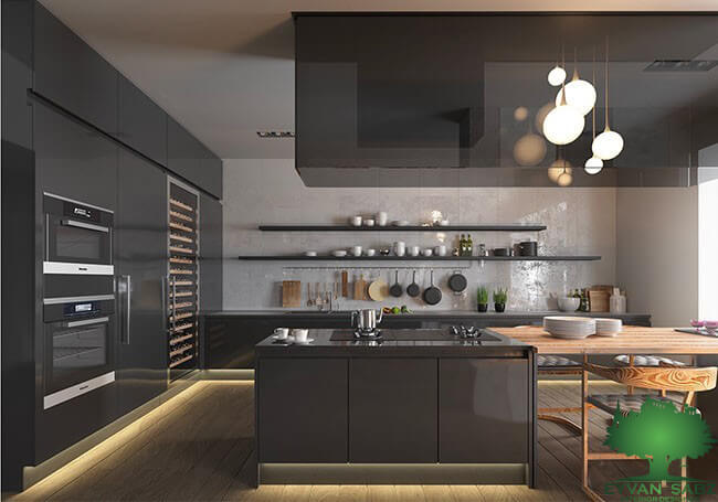 استفاده از قفسه های باز در آشپزخانه های تاریک تر