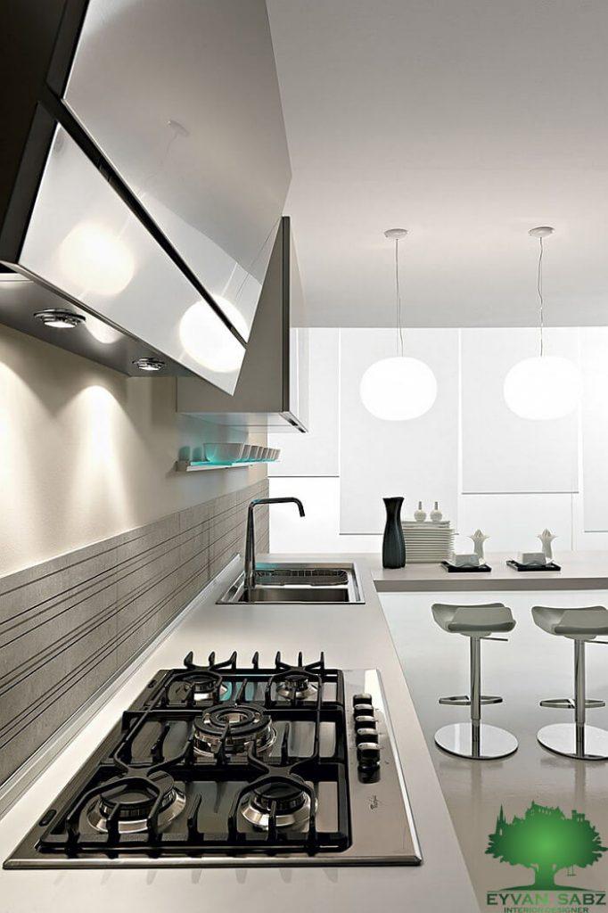 آشپزخانه راحت و دلباز
