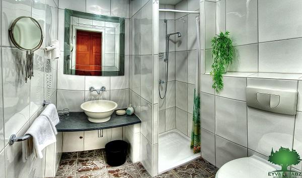 سرویس بهداشتی و حمام کوچک شیک