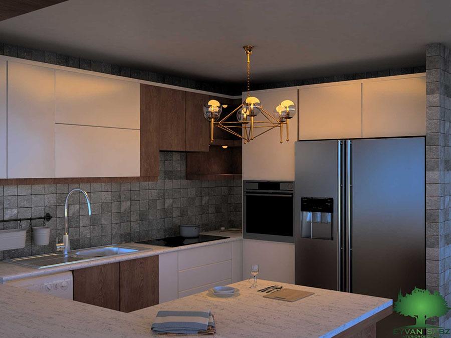 طراحی آشپزخانه شهرک بنفشه کرج