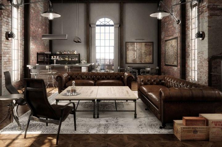 طراحی داخلی به سبک industrial