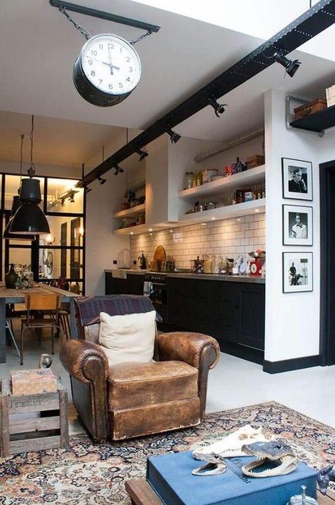 کابینت آشپزخانه به سبک industria
