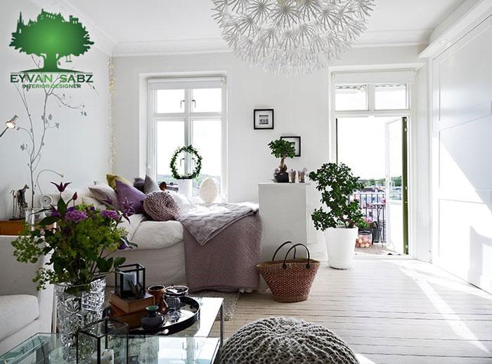 رنگ دیوارها در طراحی داخلی منازل کوچک