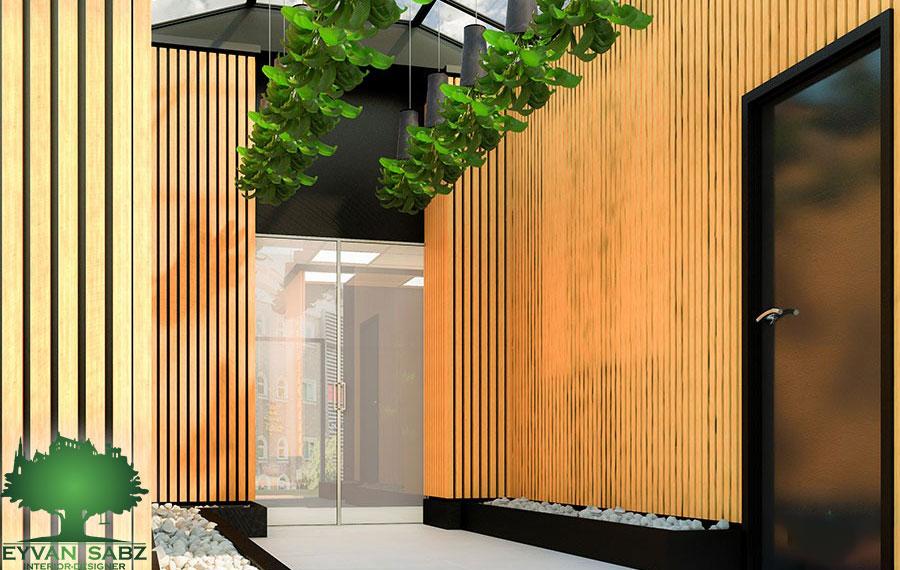 طراحی فضای ورودی شرکت انیاک - سعادت آباد