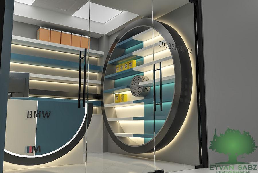 پروژه طراحی دفتر نمایندگی BMW